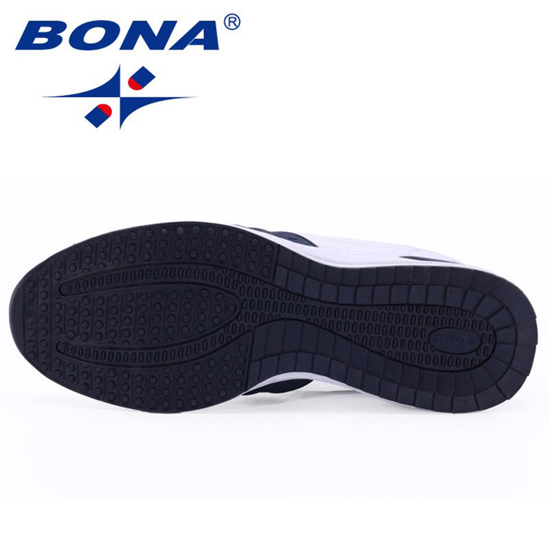 BONA New Popular Style Men Casual Shoes Lace Up Comfortable Shoes Men Soft Lightweight Outsole Hombre  Free  Shipping 6
