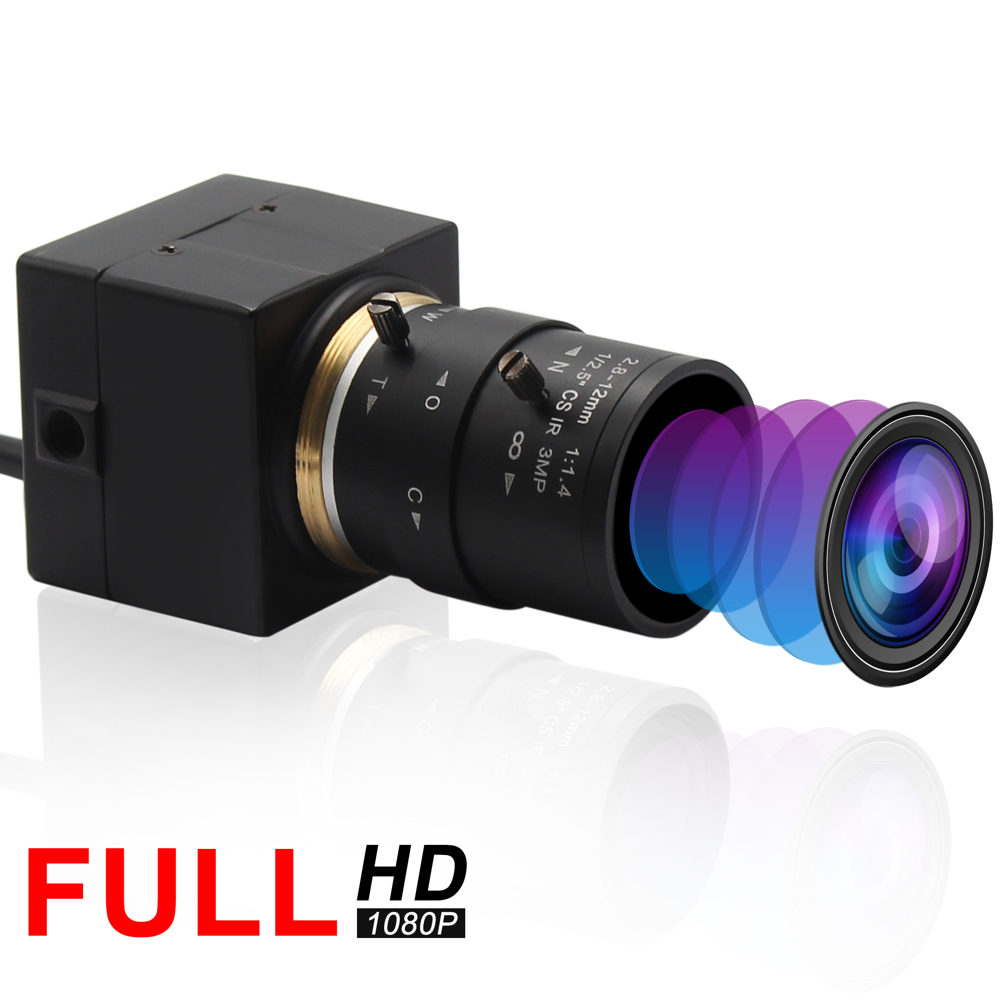 2 8 12mm varifocus lens 2Megapixel 1080P mini hd usb camera high speed USB 2 0