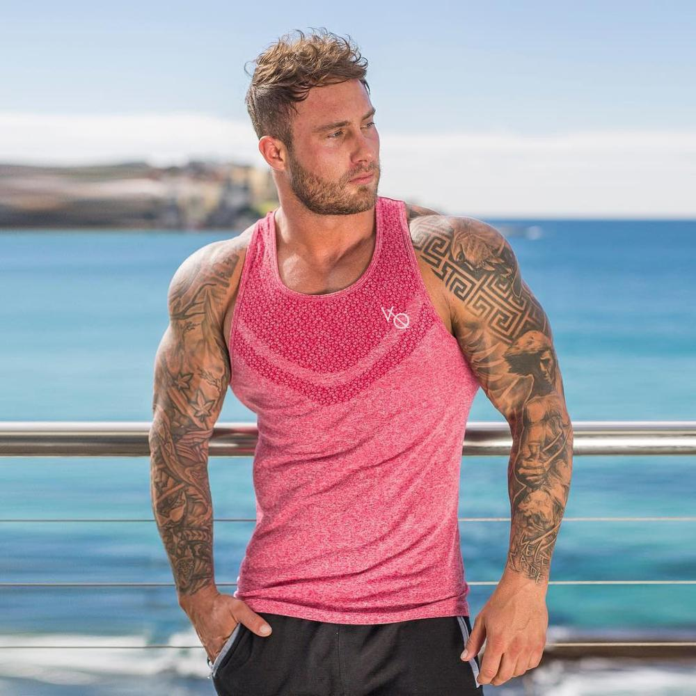 2019 new fashion Singlets gyms Mens   Tank     Tops   Shirt Bodybuilding Equipment Fitness Men's Golds Stringer   Tank     Top   Brand Clothes