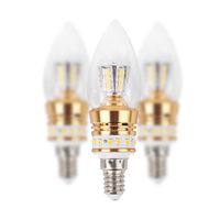 UP And Down Light Emitting Umbrella Bulb AC175 265V 8W 2800 3000K Warm White 5pcs/Lot Bright Home Bedroom Lighting E14 LED BULB