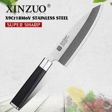 XINZUO 7 inch deba knife Germany steel sashimi  kitchen knives One-sided chef Ebony handle free shipping