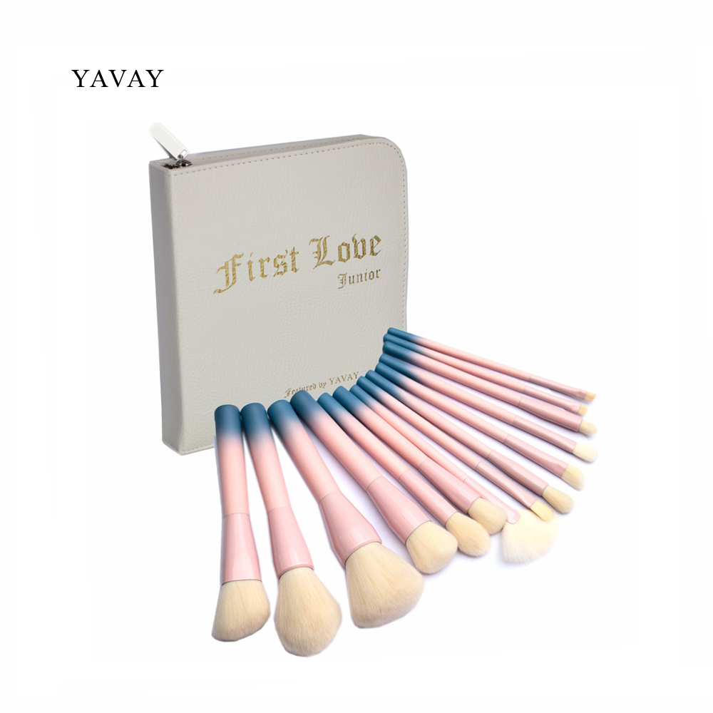 YAVAY First Love 14pcs Professional Multipurose Makeup Brushes Soft Makeup Brush Set Liner Foundation Blush Powder