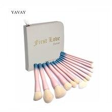 YAVAY First Love 14pcs Professional Multipurose Makeup Brushes Soft Makeup Brush Set Liner Foundation Blush Powder Brush Kit