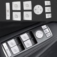 14 PZ Auto Bracciolo Porta Finestre Adesivi Button Per Mecredes Benz W204 W212 Abc GLA CLA GLK GL Class auto accessori interni
