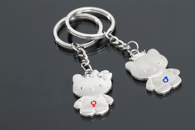 10 Pairs Wedding favors and gift Hello Kitty keychain for lovers bridal shower souvenirs birthday party supply kids