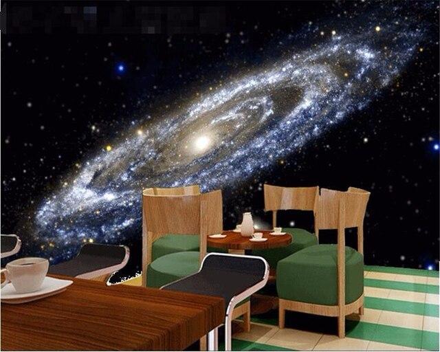 Beibehang 3d behang galaxy heldere zwarte gat plafond