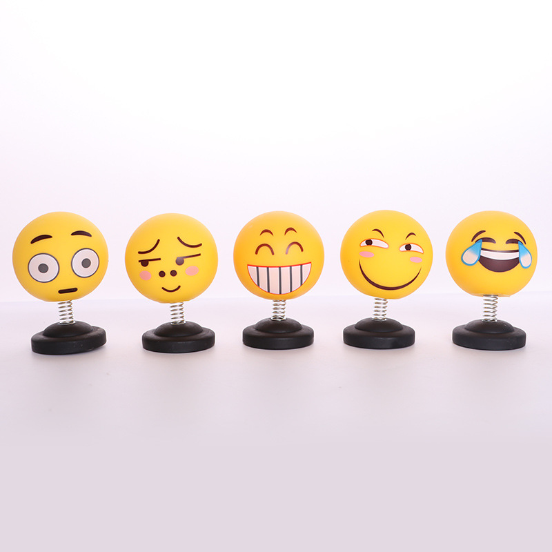 Car shaking head doll car decoration creative cute expressions jewelry gifts expression