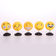 Car shaking head doll car decoration creative cute expressions shaking head jewelry gifts shaking head expression premium new funny spring man emoji emotion face expression figure shaking head doll for children toys gifts car decor supplies