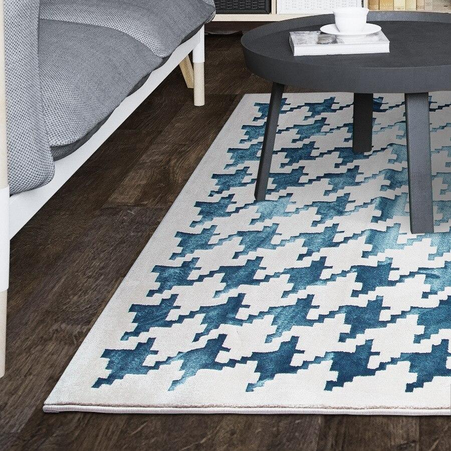Tapis abstrait classique de haute qualité de modèle de pied-de-poule pour la chambre à coucher de salon tapis antidérapant de plancher de mode petits tapis de cuisine