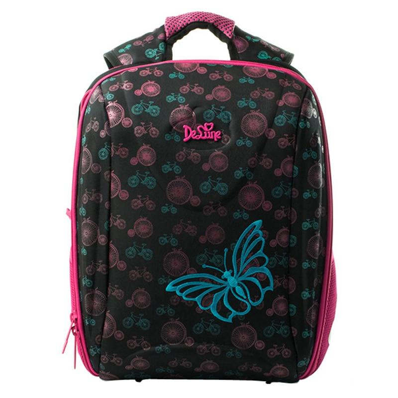 Delune Brand Zipper Polyestr Boys Girls Schoolbag Leisure Cute Children's School Bag Add thick sponge to protect shoulder straps