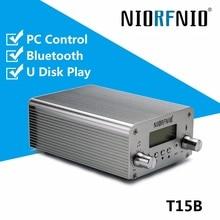 Полный набор 0~ 15 Вт стерео Профессиональный PLL FM стерео передатчик 87,5-108 МГц функция bluetooth, управление ПК, U диск плеер