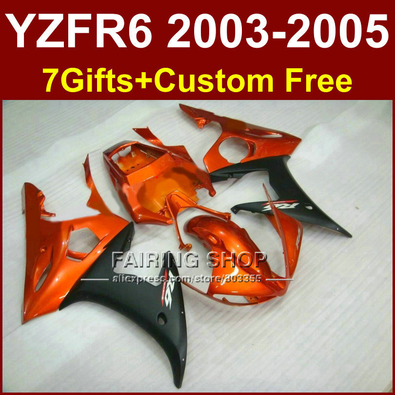 EH7 body repair parts for YAMAHA R6 fairing kit 03 04 05 burnt orange fairings YZF R6 2003 2004 2005 Motorcycle sets KOT5