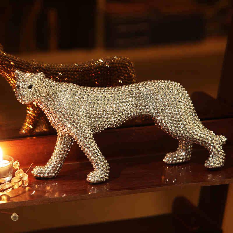 Керамика ремесла повезло слон украшения творческий современный домашний декор украшения Керамика фигурки животных фарфоровые статуэтки с... - 6