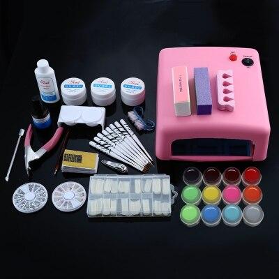 Manicure Kits Professional 36W White Cure Lamp Dryer UV Gel Nail Tools Full Set Kit