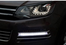 LED daytime running light DRL Fog Grille cover for VW Touareg 2011 2012 2013 цена 2017