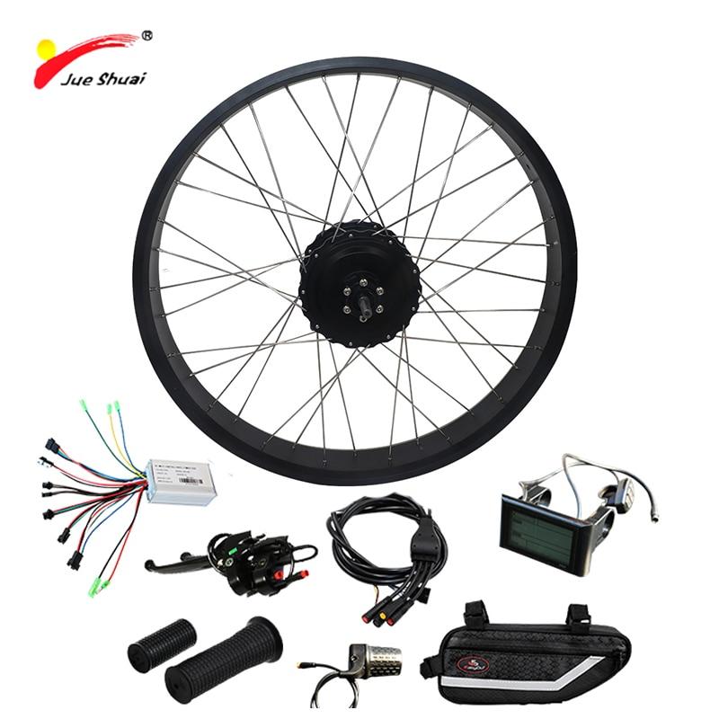 Livraison gratuite Kit de vélo électrique 1000 W pour vélo de neige 4.0 gros pneu moteur roue puissant 48 V 1000 W moteur de moyeu de vélo électrique