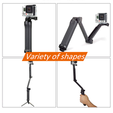 For Osmo action GoPro Monopod Collapsible 3 Way Mount Camera Grip Extension Arm Tripod Stand for Gopro Hero 7 6 5 4 3+