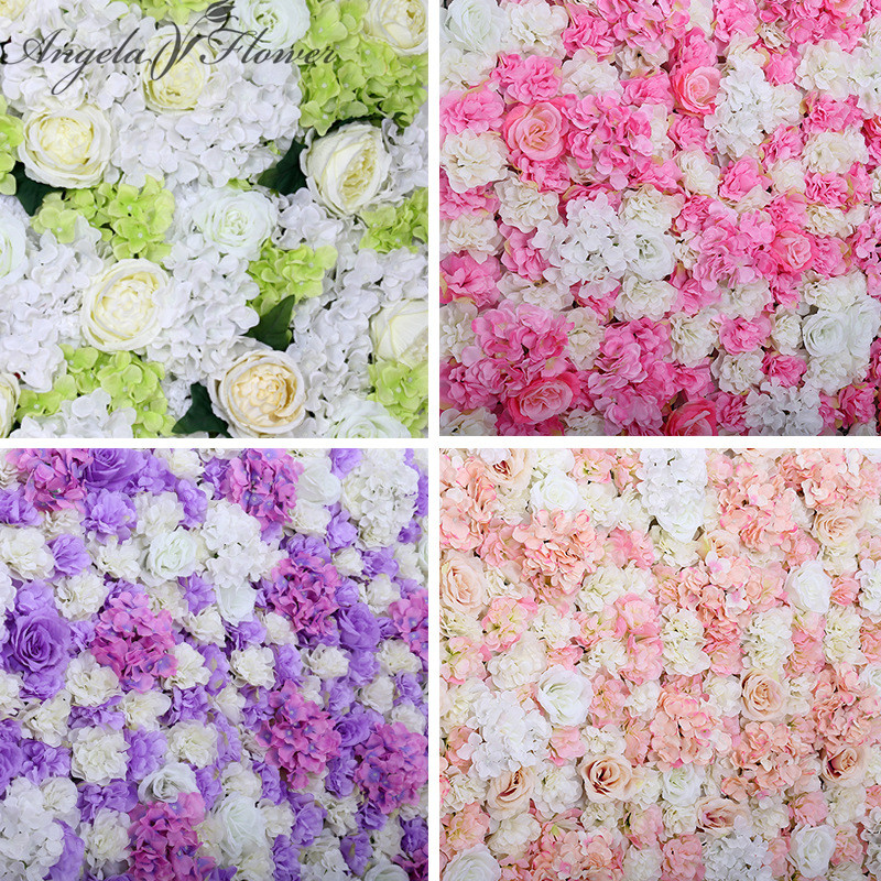 Silk Flower Wall Wedding Decoration Artificial Rose