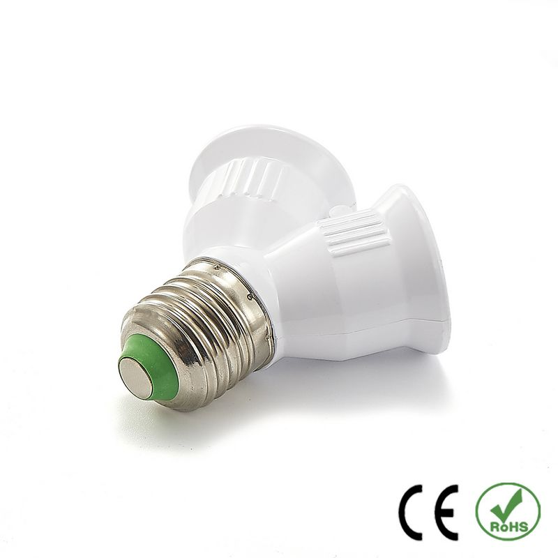 300pcs E17 to E12 Adapter Lamp Holder Converter Lamp Base Socket Fireproof PBT Copper LED Light Bulb Holder Extender Plug