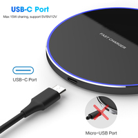 DCAE QI Wireless Charger USB Type C 10W 15W Max for IPhone 11 XS XR X 8 Fast Charging For Samsung S10 Xiaomi Mi 9 Huawei P30 Pro 3