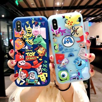 Japan Korea Cartoon 3D Toy Story Three Eyes Silicone Cover case for iphone 6 7 8 Plus X XR XS MAX S7 S8 S8p S9 S9p  phone cases winnie the pooh iphone case