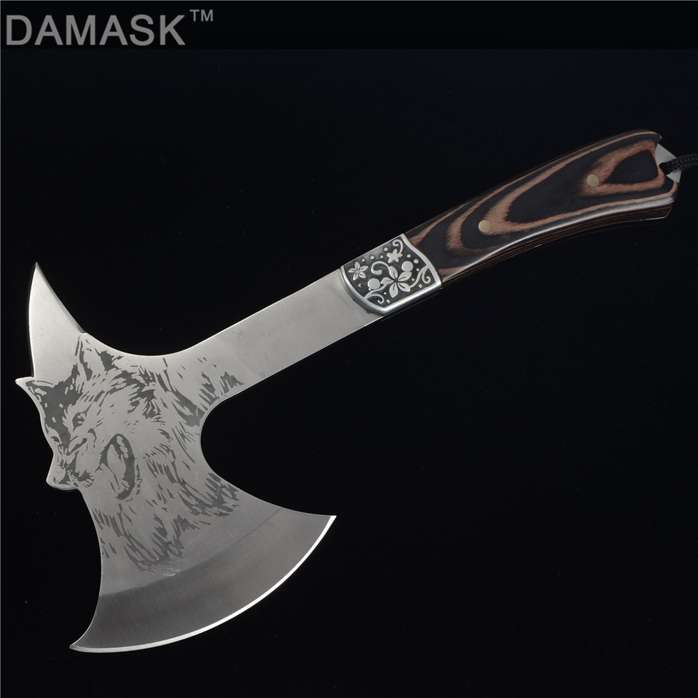 DAMASK Combat Tools Tactical Axe Tomahawk Army Outdoor Hunting Camping Survival Machete Axes Best Hand Tool Fire Axe Hatchet Axe wood handle sharp survival tomahawk axes axe outdoor machetes steel tactical axe head machado facao hatchet camping hand fire ax