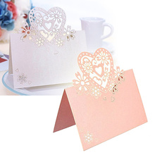 50pcs/pack mix color Laser Cut Place Cards