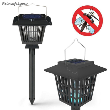 Feimefeiyou Insect Killer Garden Supplies lampada solar LED Outdoor Lawn Pathways Mosquito Insect Pest Bug energia solar
