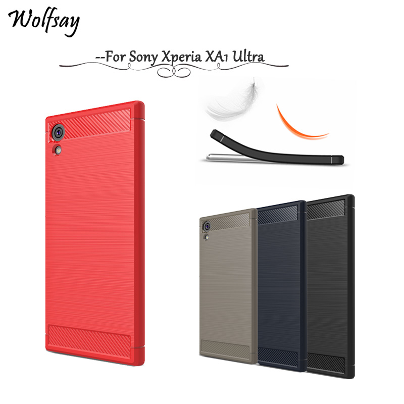 Wolfsay For Cover Case Sony Xperia XA1 Ultra Case Soft TPU Brush For Case Sony Xperia XA1 Ultra Case For Sony XA1 Ultra G3221