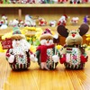 Christmas Holiday Snowman Decoration 3PCS LOT Santa Claus Reindeer Doll For Home Eve Supplies Ornaments Festival