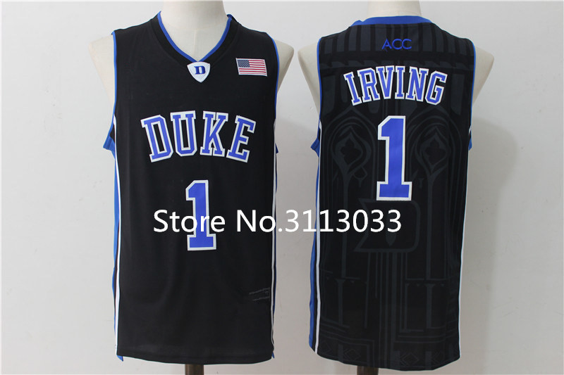ef5e70311c7d ... norway kyrie irving 1 duke blue devils college throwback basketball  jersey stitched s xxl in basketball