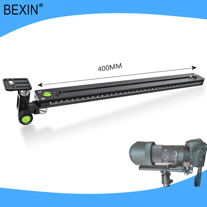 400mm Long Quick Release Plate Lens Bracket Kit for Camera Bird Watching Lengthened Quick Release Plate Long Nodal Slide Rail