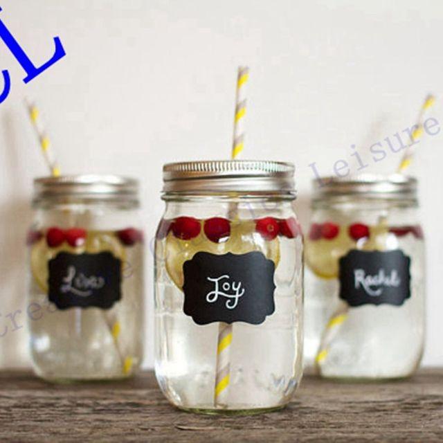 Free Shipping 36pieces Fancy Mason Jar Wedding Chalkboard