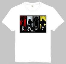 Free Shipping Anime RWBY Print T-Shirt Tops Tees Men Women Anime White Shirt RWBY Logo Tees Top Shirt