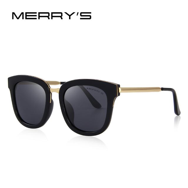 MERRYS Women Classic Cat Eye Polarized Sunglasses Fashion Sun Glasses Metal Temple 100% UV Protection S6082