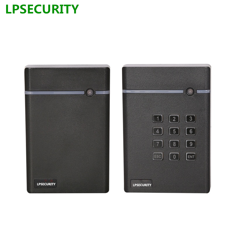 LPSECURITY 13.56MHz IC or 125Khz RFID Reader EM ID Card RFID Tag Reader WG26 Waterproof for Door Access Control System