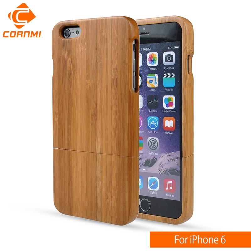 CORNMI For iPhone 6 Case Brand Bamboo Wood Protector Cell Phone Cases Cover For Apple iPhone 6 Accessories 4.7 Inch Hot Sale HTH
