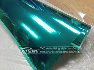 Image 3 - 50CM * 1 M/2 M/3 M/4 M/5 M Rotolo Car styling alta elastico Tiffany blu Chrome Mirror Vinile Wrap Copriletto Rotolo di Pellicola Adesivo Auto