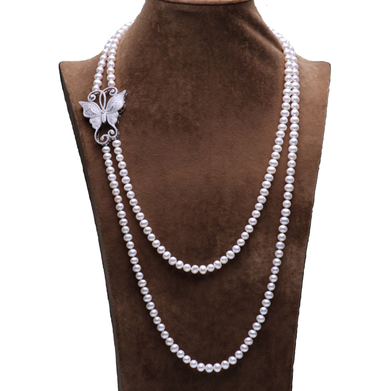 RUNZHUQIYUAN 2017 100% natural freshwater pearl long necklace 160 210cm long pearl Nearround shape pearl for women weddingRUNZHUQIYUAN 2017 100% natural freshwater pearl long necklace 160 210cm long pearl Nearround shape pearl for women wedding