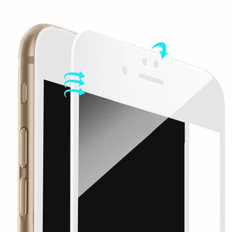För iPhone 7 6 6s skärmskydd Härdat glas Hel täckning 3D böjd - Reservdelar och tillbehör för mobiltelefoner - Foto 4