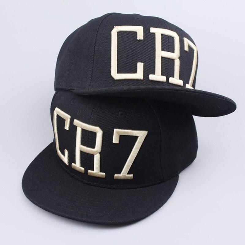 482004f6 2 Colors 2017 Cristiano Ronaldo CR7 Black Blue Baseball Caps hip hop Sports  Snapback Football hat