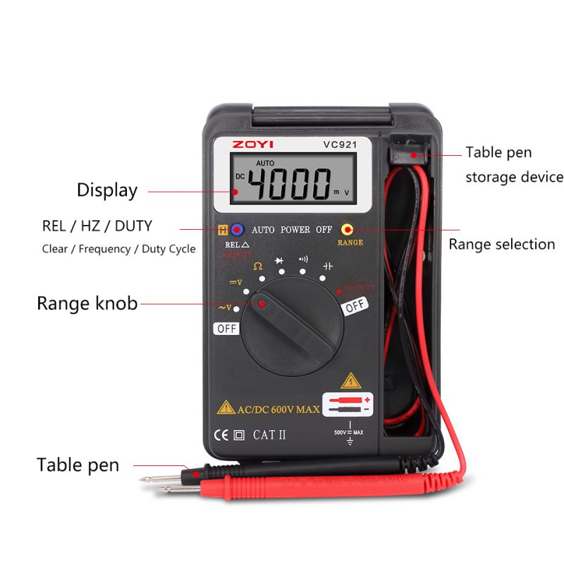 Digital-Multimeter VC921 DMM Integrierte Personal Tasche Mini Digital-Multimeter 2017