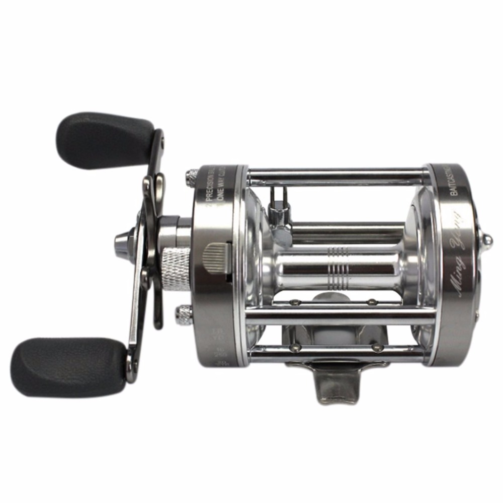 CL70 4.2:1 Lure Fishing Reel Left-Right Optional Metal Round Drum Wheel 2+1 Ball Bearing Baitcasting Trolling Reels metal round jigging reel 6 1 bearing saltwater trolling drum reels right hand fishing sea coil baitcasting reel