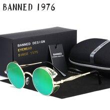 2017 HD Polarized Round Metal Circle Punk Steampunk Sunglasses for Men women Coating Sun Glasses oculos de sol Retro masculino