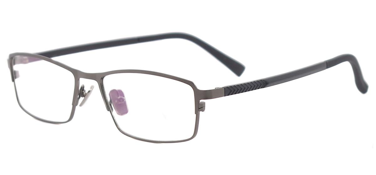 Metal Full Rim Rectangle Spectacles Classic Prescription Eyeglass Frame For Myopia & Reading