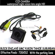 Провода для беспроводного sony пзс-матрицы HD парковка автомобилей в камера заднего вида для BUICK ENCLAVE GMC YUKON TAHOE пригородная широкоугольный