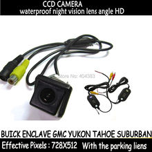 wire wireless for sony chip CCD HD parking Car camera in Rear View camera for BUICK ENCLAVE GMC YUKON TAHOE SUBURBAN wide angle