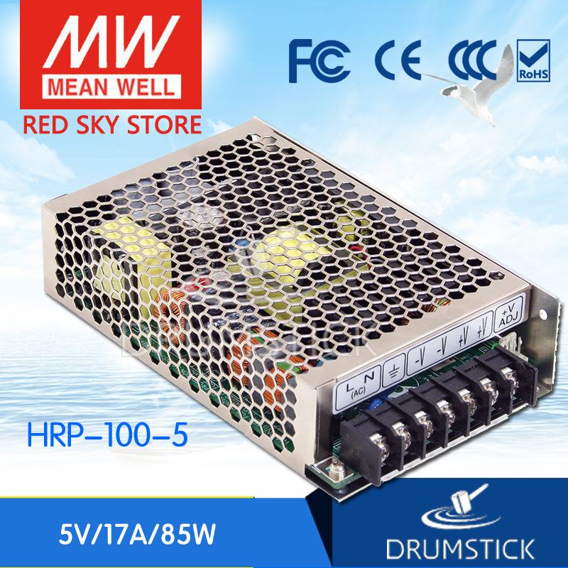 Selling Hot MEAN WELL HRP-100-5 5V 17A meanwell HRP-100 5V 85W Single Output with PFC Function Power Supply best selling mean well hrp 200 7 5 7 5v 26 7a meanwell hrp 200 7 5v 200 3w single output with pfc function power supply