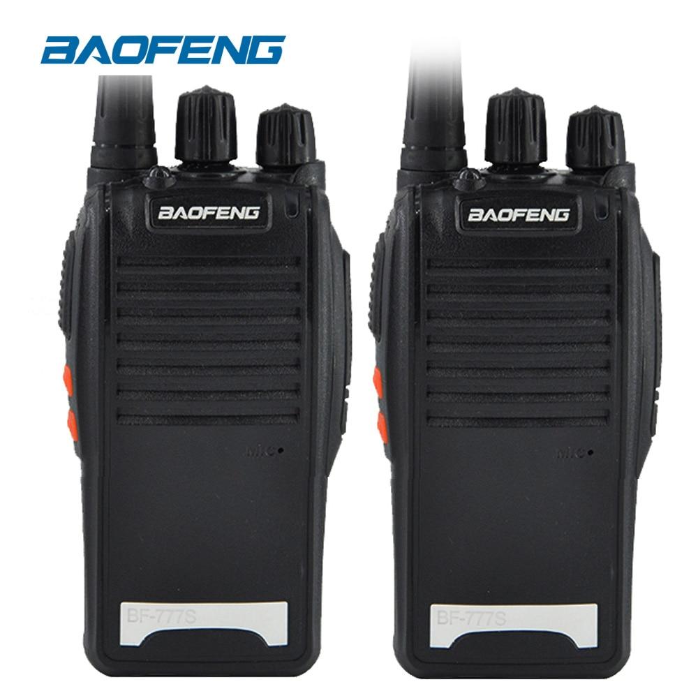 2 PCS D'origine BaoFeng BF-777S longue portée sans fil UHF 400-470 MHz puissance 5 W Deux-way Radio étanche Talkie Walkie portable radio