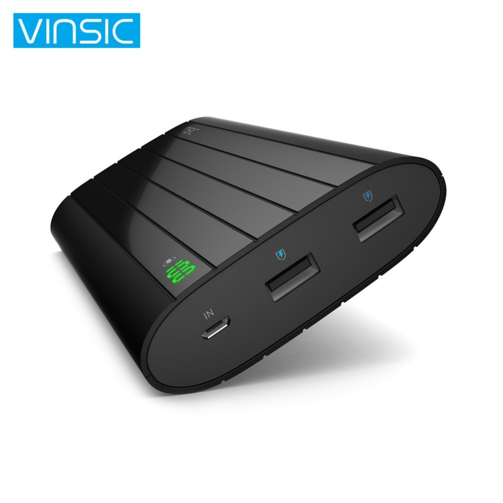 Vinsic 18650 Power Bank 20000mah LCD External Battery Portable Mobile Charging Battery Dual USB Powerbank for Xiaomi Smartphone
